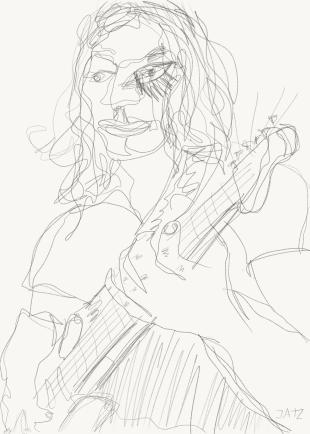 Mies ja Kitara 2 - Drawing 12095403214
