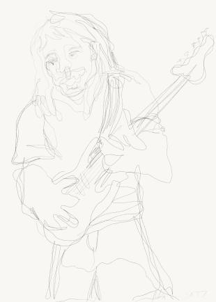 Mies Ja Kitara - Drawing 1693941634